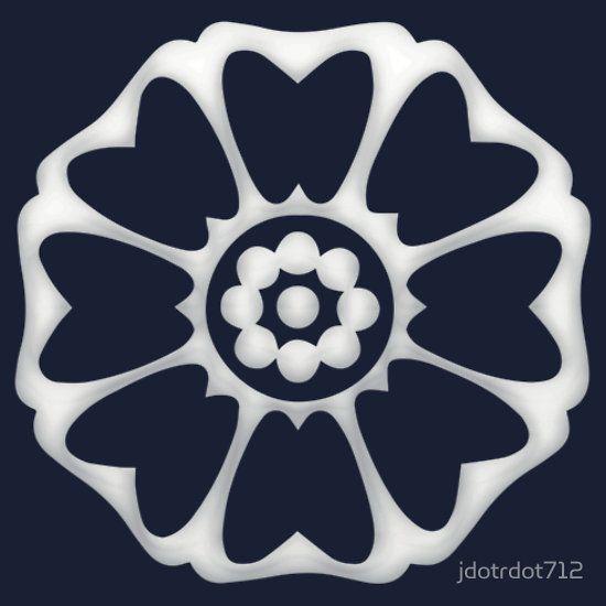 White Lotus Symbol Slim Fit T Shirt Avatar Tattoo White Lotus