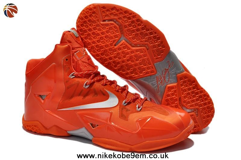 New 616175 800 Nike Lebron XI Orange Silver Factory Outlet · Lebron  11Lebron JamesNike ...