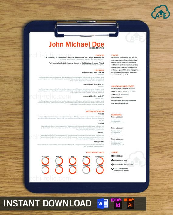 Resume// Minimal 2 Theme By ArchiFolio On Etsy
