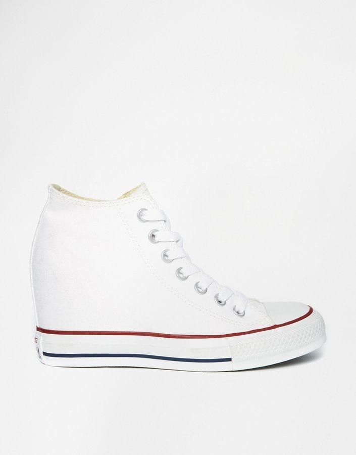 Converse - All Star Lux - Weiße Turnschuhe mit Keilabsatz - Weiß