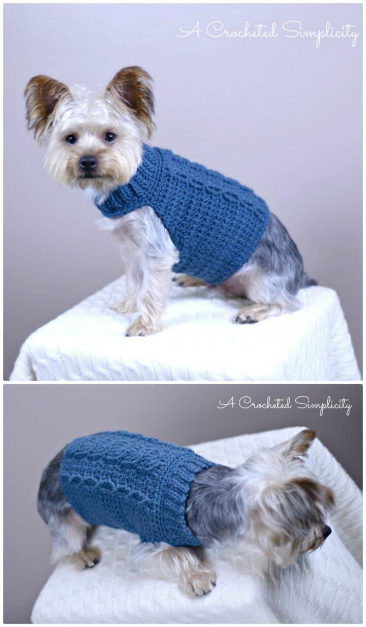 Tolle Kostenlos Häkeln Hund Pullover Muster Kleine Hunde Fotos ...