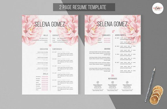 No Picture cv template from cvzilla Enjoy creating your - 2 page resume