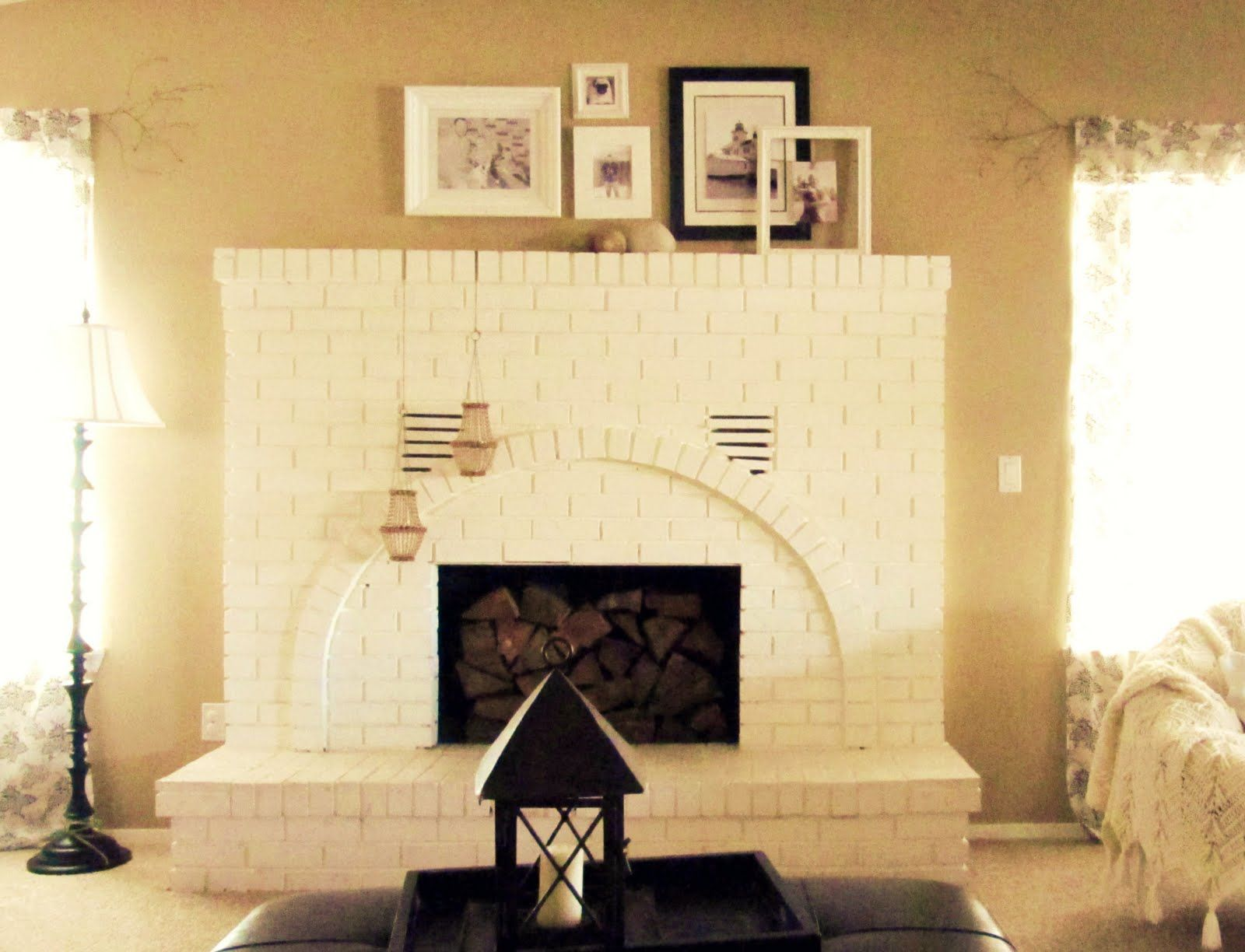 Enchanting Brick Wall Fireplace Ideas Ensign - Wall Art Collections ...
