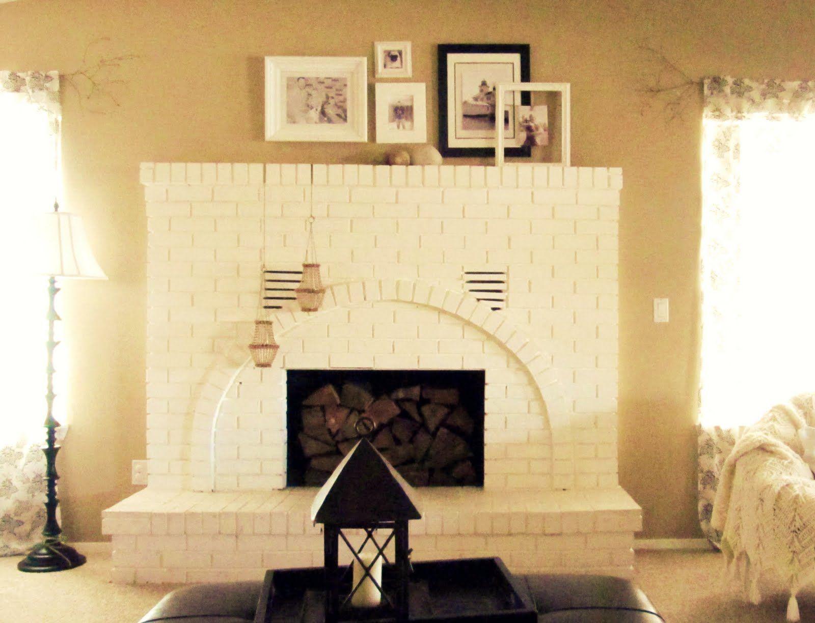 white fireplace | Fireplaces | Pinterest | Brick fireplace, Bricks ...