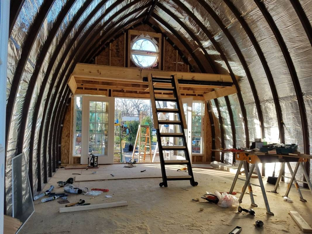 Random Image Arched Cabin Arch House Quonset Homes