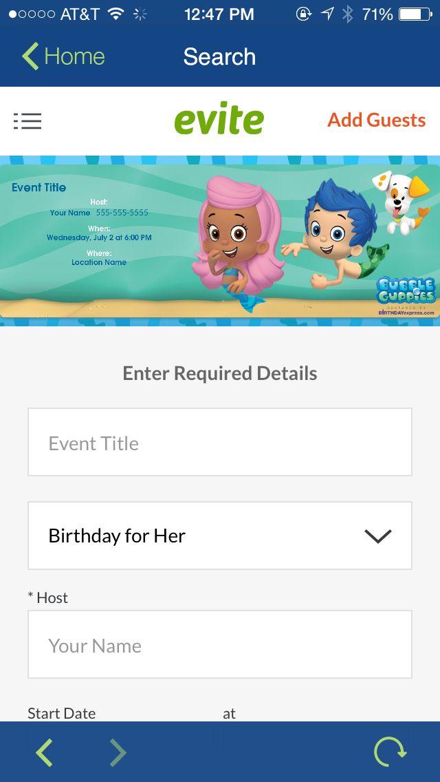 Bubble guppies free email invite | Leighton\'s Bday | Pinterest ...