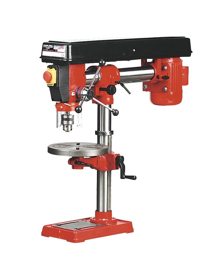 Sealey Gdm790br Radial Pillar Drill Bench 5 Speed 790mm Height 550w 240v Gdm 790 Br Drill Drilling Machine Tools