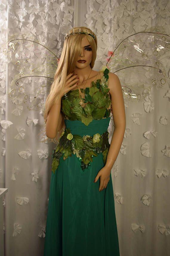 Adult fairy Queen costume dress,Woodland fairy dress,Green fairy ...