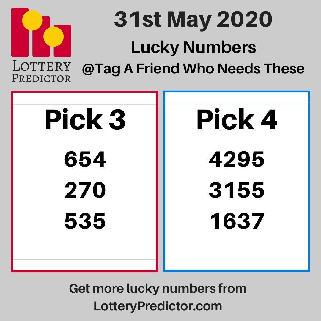 Lucky Lottery Numbers For Sunday 31st May Lottery