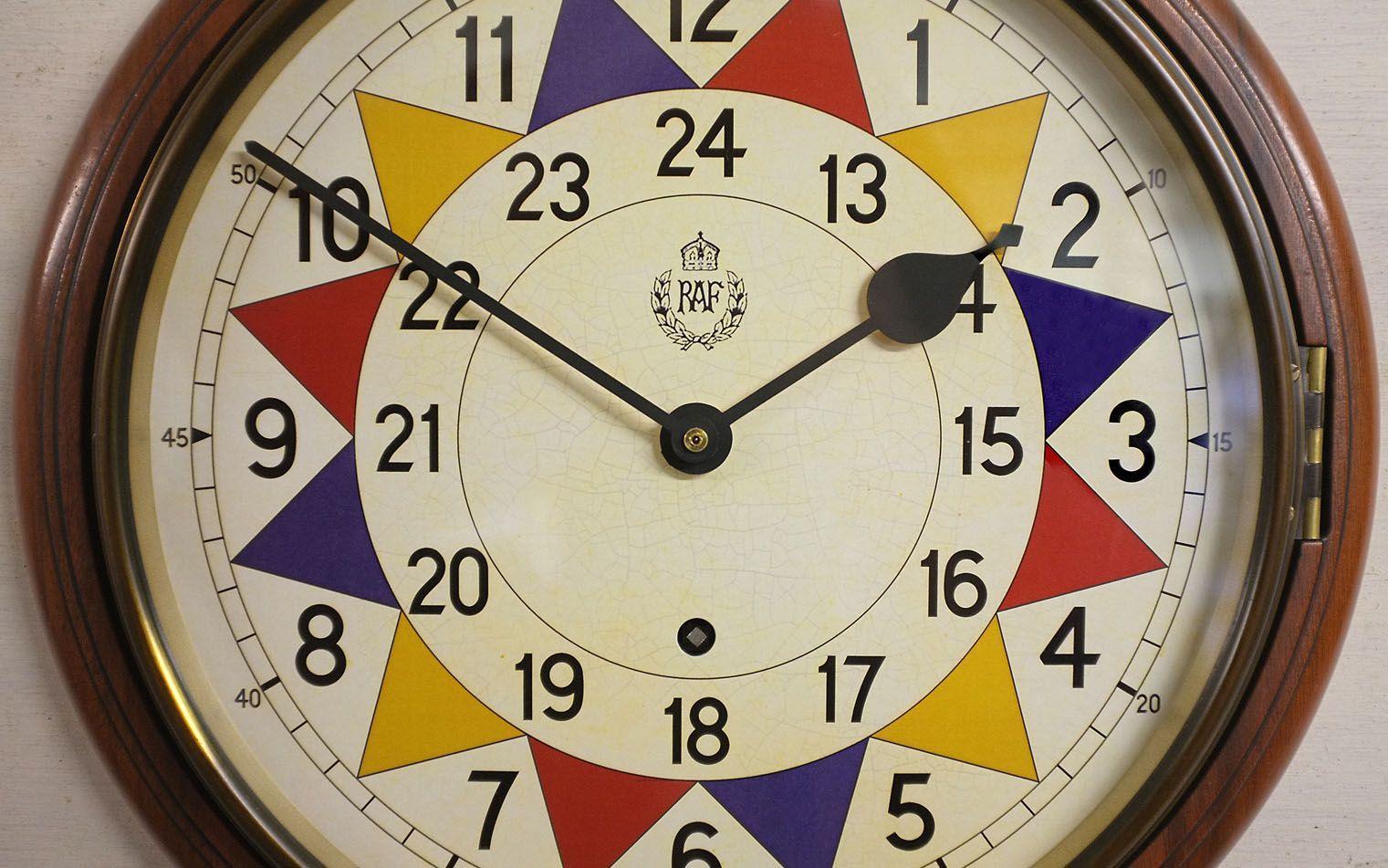 RAF Sector Wall Clock replica by Ellis & Co. Inside