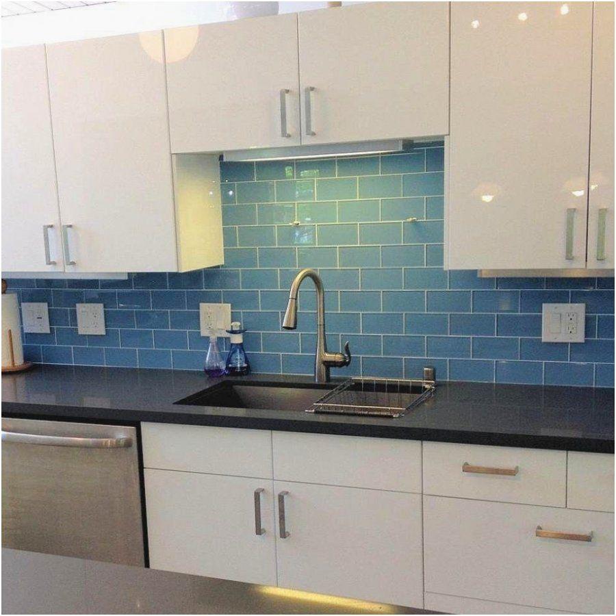 16 Bescheiden Glasfliesen Küche  Blauer fliesenspiegel