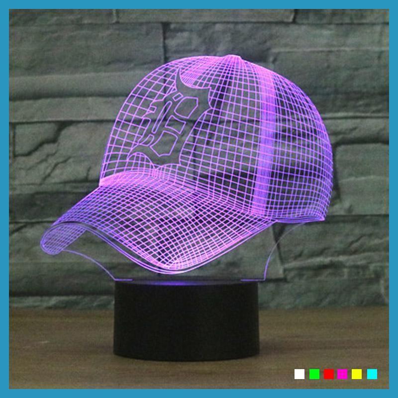 NFL 3D LED Detroit Tigers Cleveland Indians Football Helmet Night Light 7  Colors Touch Desk Lamp e548640843dc