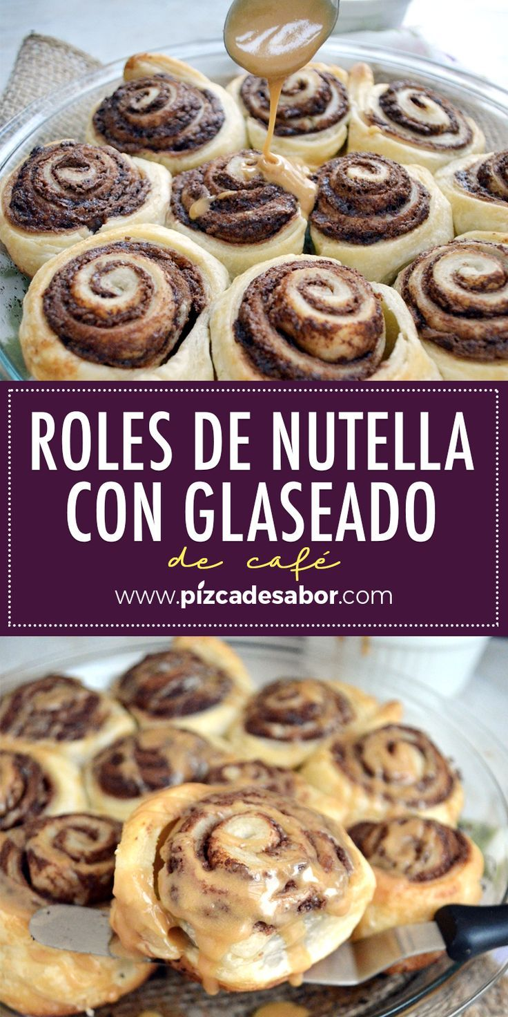 Nutella rolls with coffee glaze Nutella rolls with coffee glaze,
