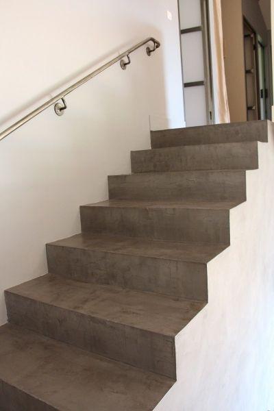 escalier en b ton cir marius aurenti a fleur de chaux montpellier marius aurenti. Black Bedroom Furniture Sets. Home Design Ideas