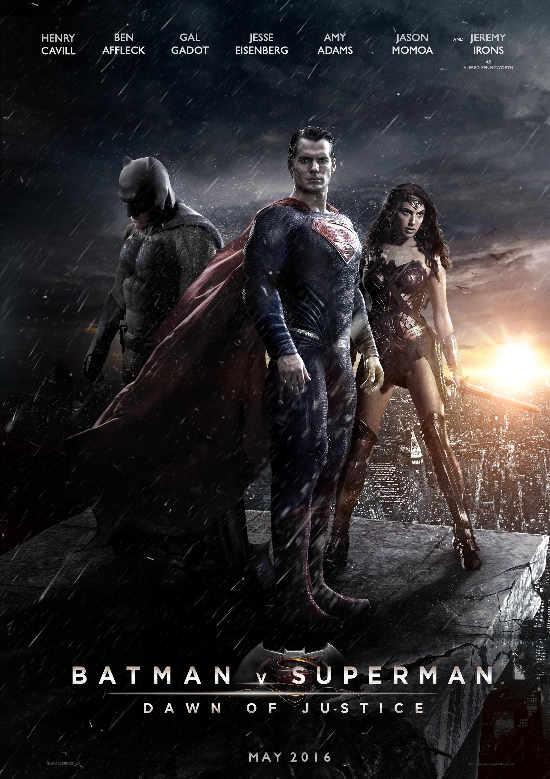 FAN MADE BATMAN V SUPERMAN Poster Brings The Trinity Together