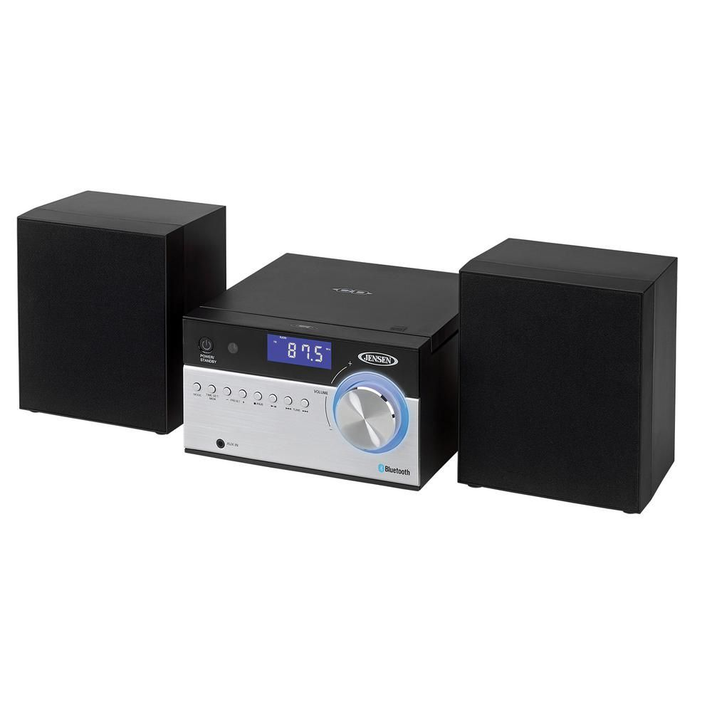 JENSEN Bluetooth CD Music System with Digital AM/FM Stereo Receiver and Remote Control-JBS-200 #musicsystem