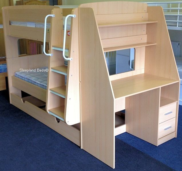 Olympic Bunk Beds With Trundle Bed And Desk Ranzalar