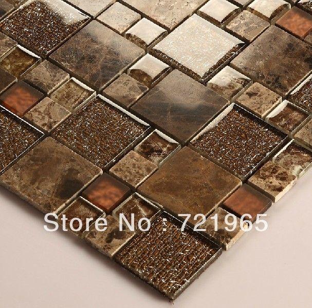 Wunderbar Stein Marmor Mosaik Fliesen Kristallglasmosaik Fliesen Küche Backsplash  SGMT050 FREIES VERSCHIFFEN Glas Mosaik Badezimmer