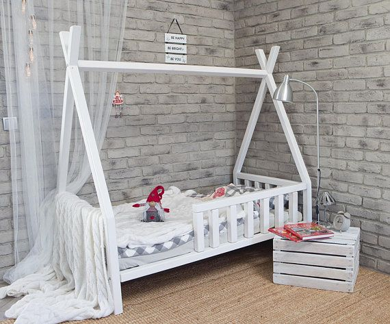 TIPI bed for children, kids bed, play bed, children bed house, Indian tent, wood #indianbeddoll