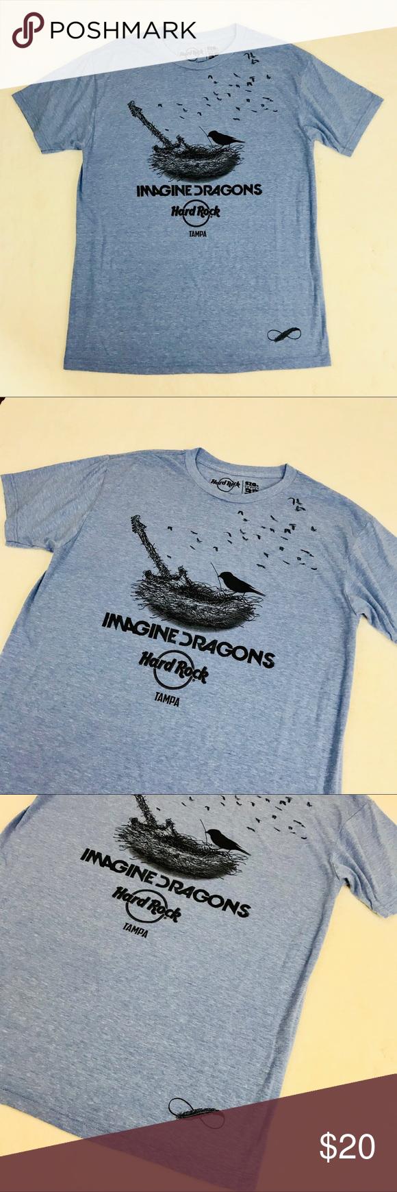 ee3b70e2c6a6 Imagine Dragons Hard Rock Cafe Tampa T-Shirt L NEW Imagine Dragons Hard  Rock Cafe