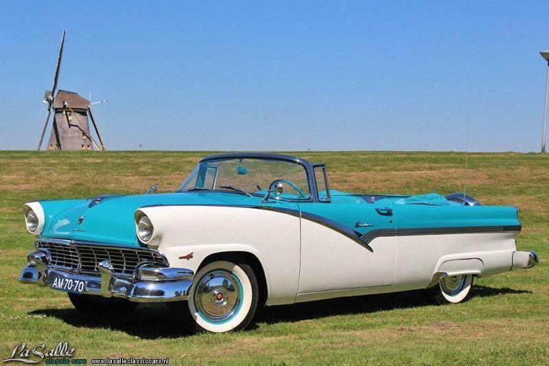 1956 Ford Fairlane Sunliner Fordclassiccars Bilar