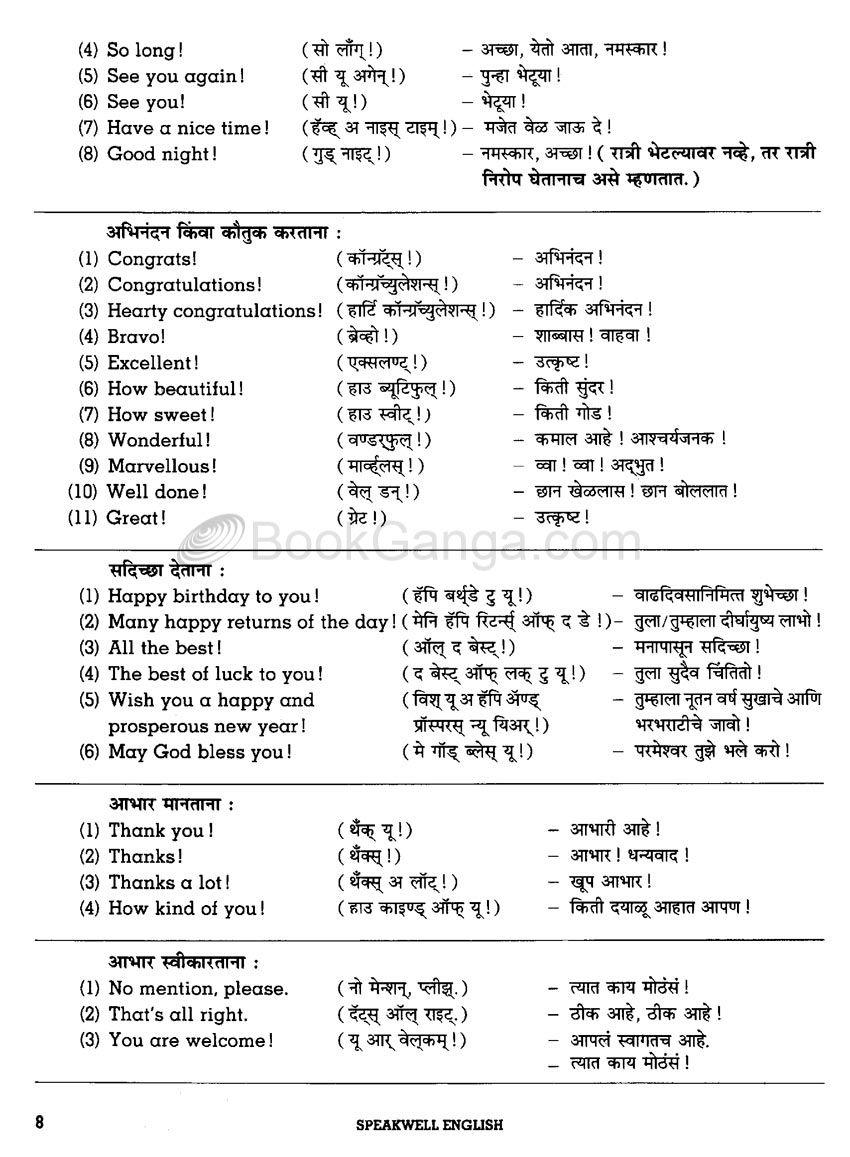 Navneet Speakwell English Marathi Learn English Vocabulary English Learning Spoken English Language Learning