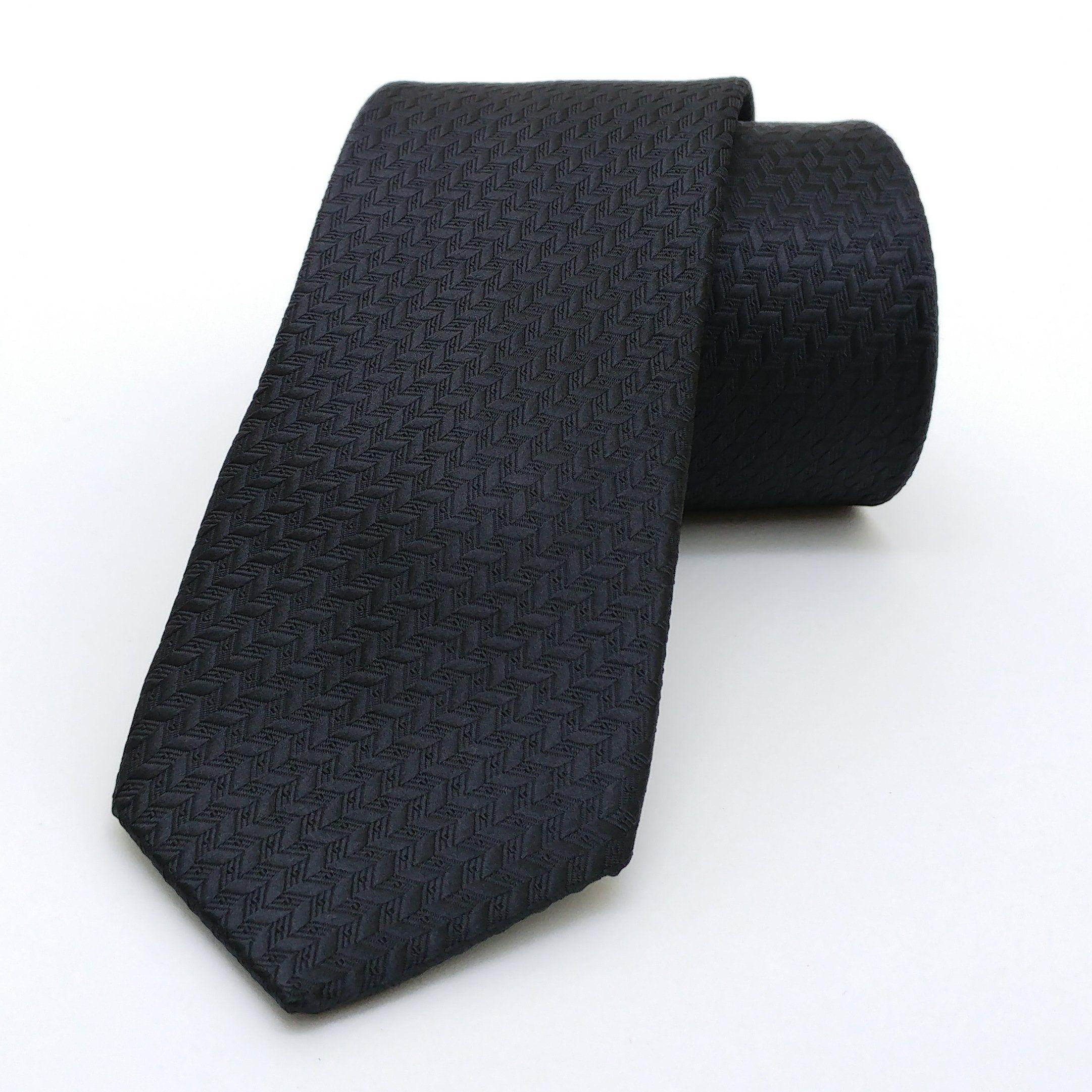 "Black dotted, herringbone men's tie 6 cm (2,36"") DK-605. Black stopped men's necktie DK-605 Width : 6 cm (2,36"") Length : 150 cm (59,06"")."
