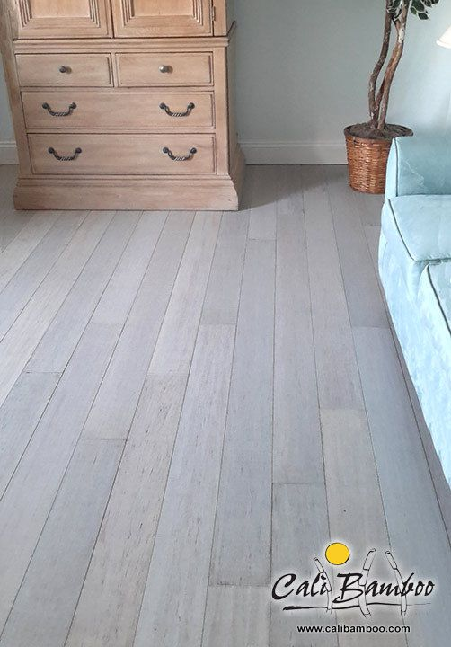 Rustic Beachwood Bamboo Flooring For The Beach House Beach House