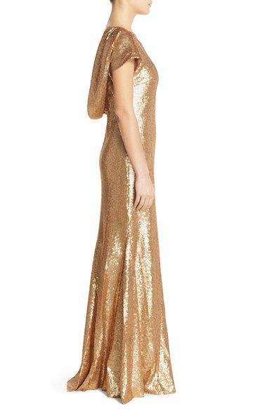 Try gold and sequins for the mother of the bride dress!