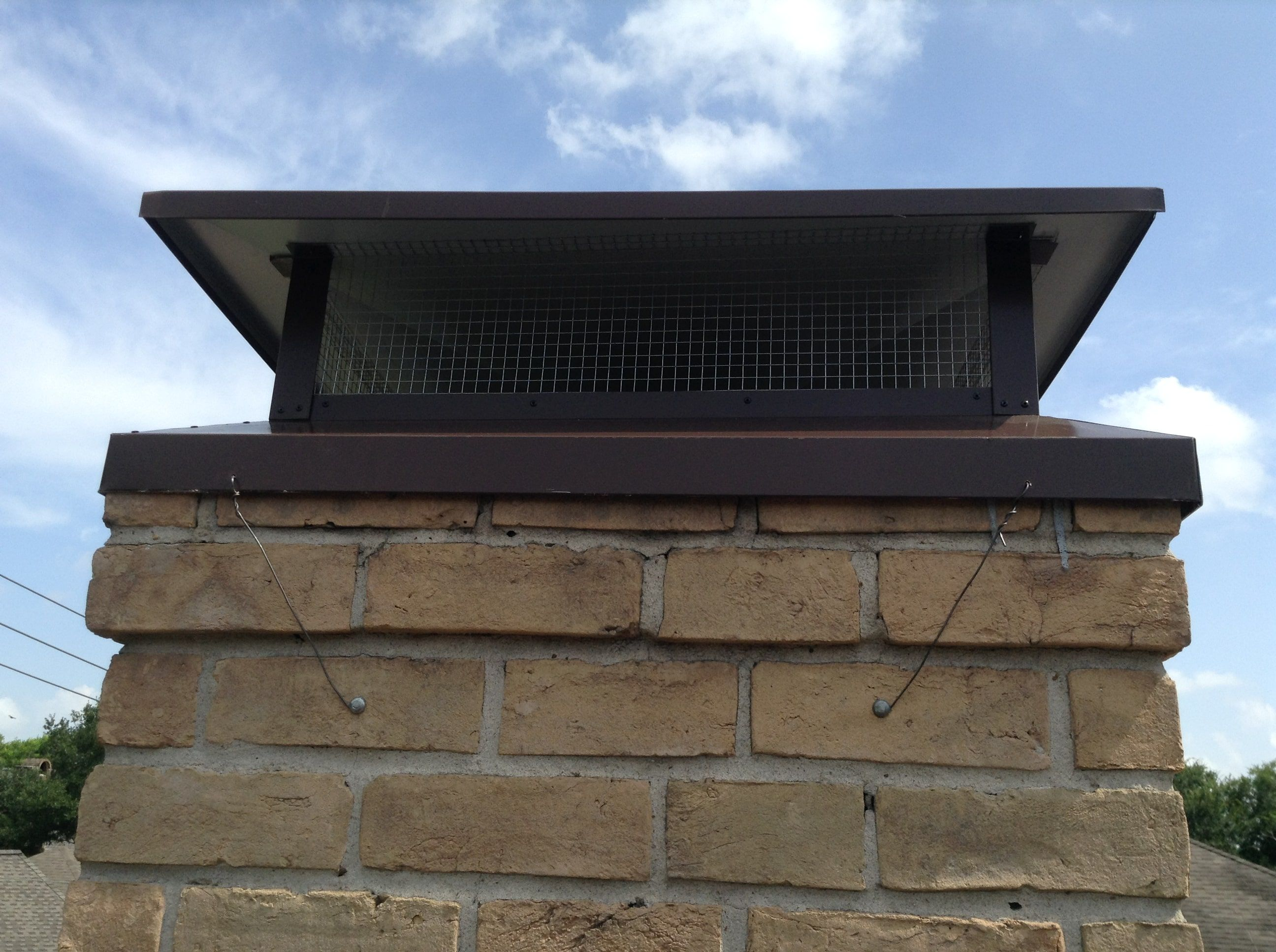 diy chimney cap design