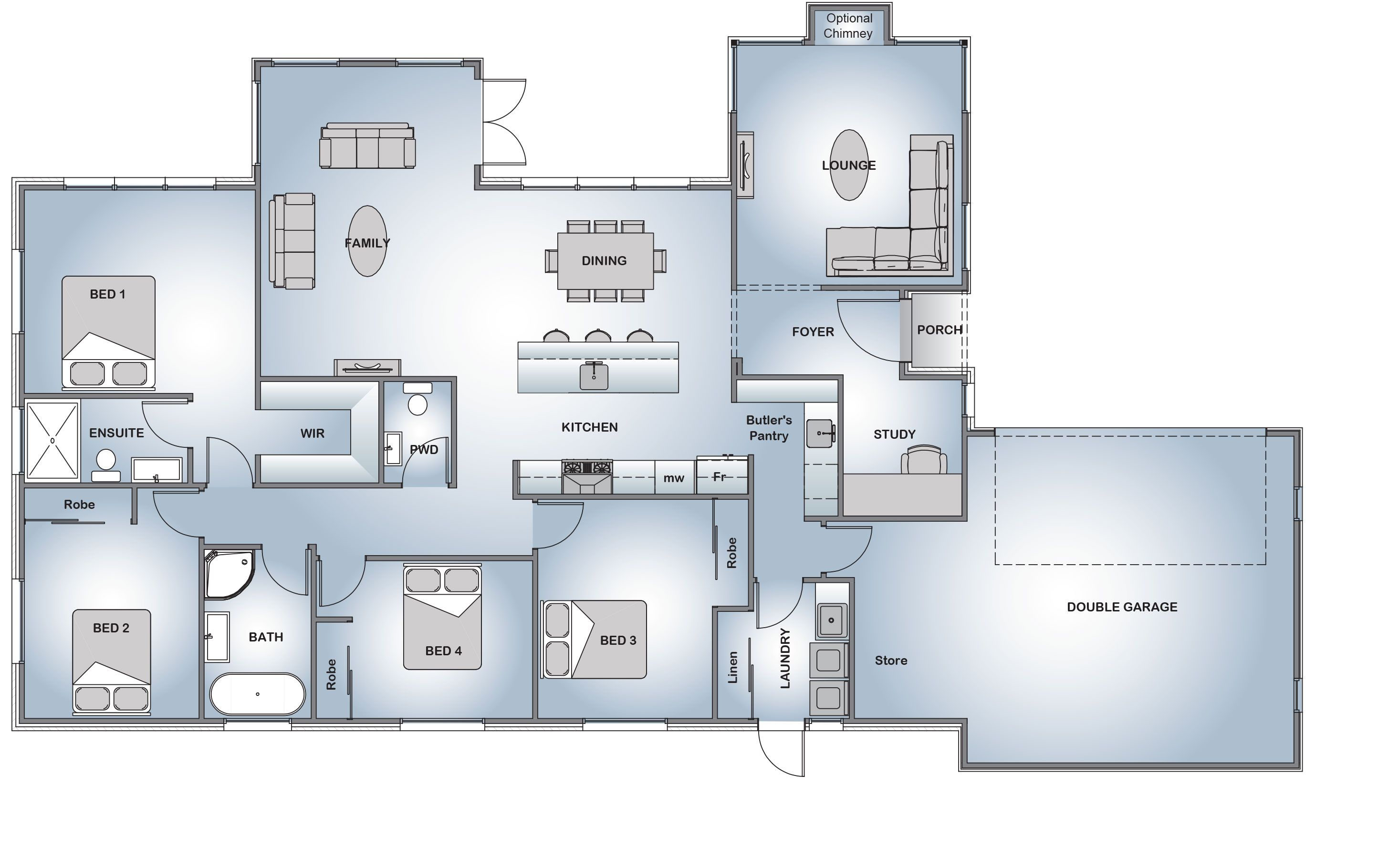 House Plans, House Designs, Floor Plans Wickliffe - Your Style Range ...