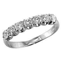 Buy EWA 18ct White Gold Diamond Half Eternity Ring, N Online at johnlewis.com