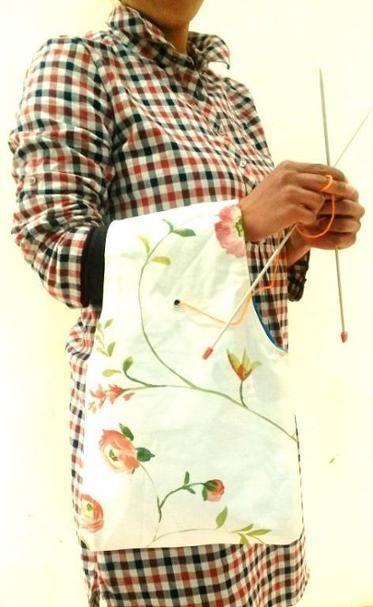 Knitter's Wrist bag | Bag patterns to sew, Knitting bag ...