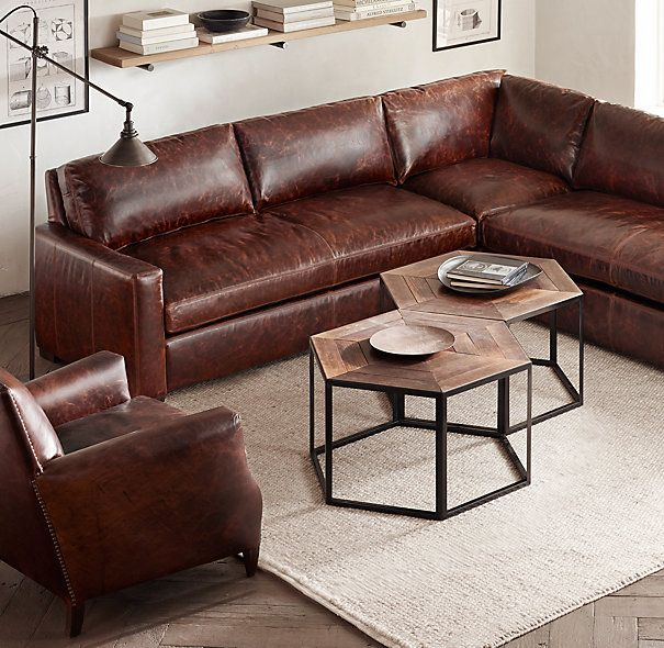 Exceptional The Petite Maxwell Leather Customizable Sectional