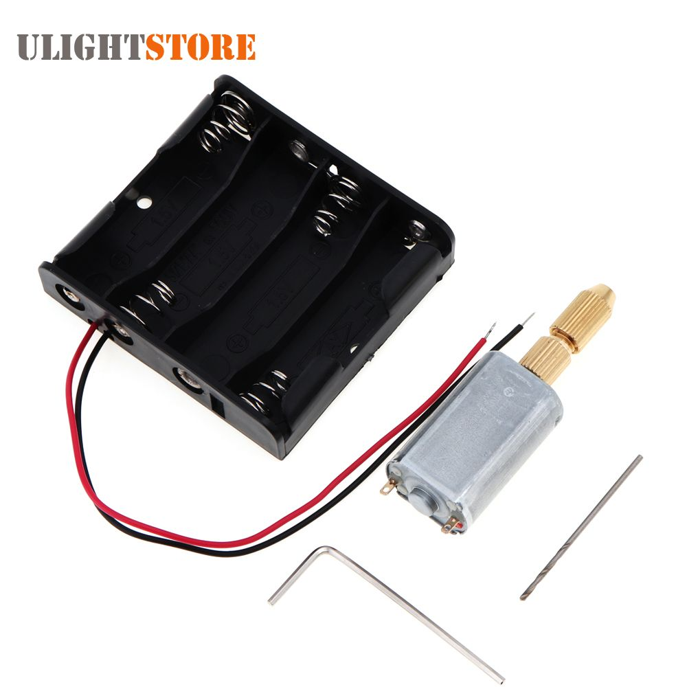 Mini DC 6V PCB Electric Motor Hand Drill DIY Drilling Machine with ...