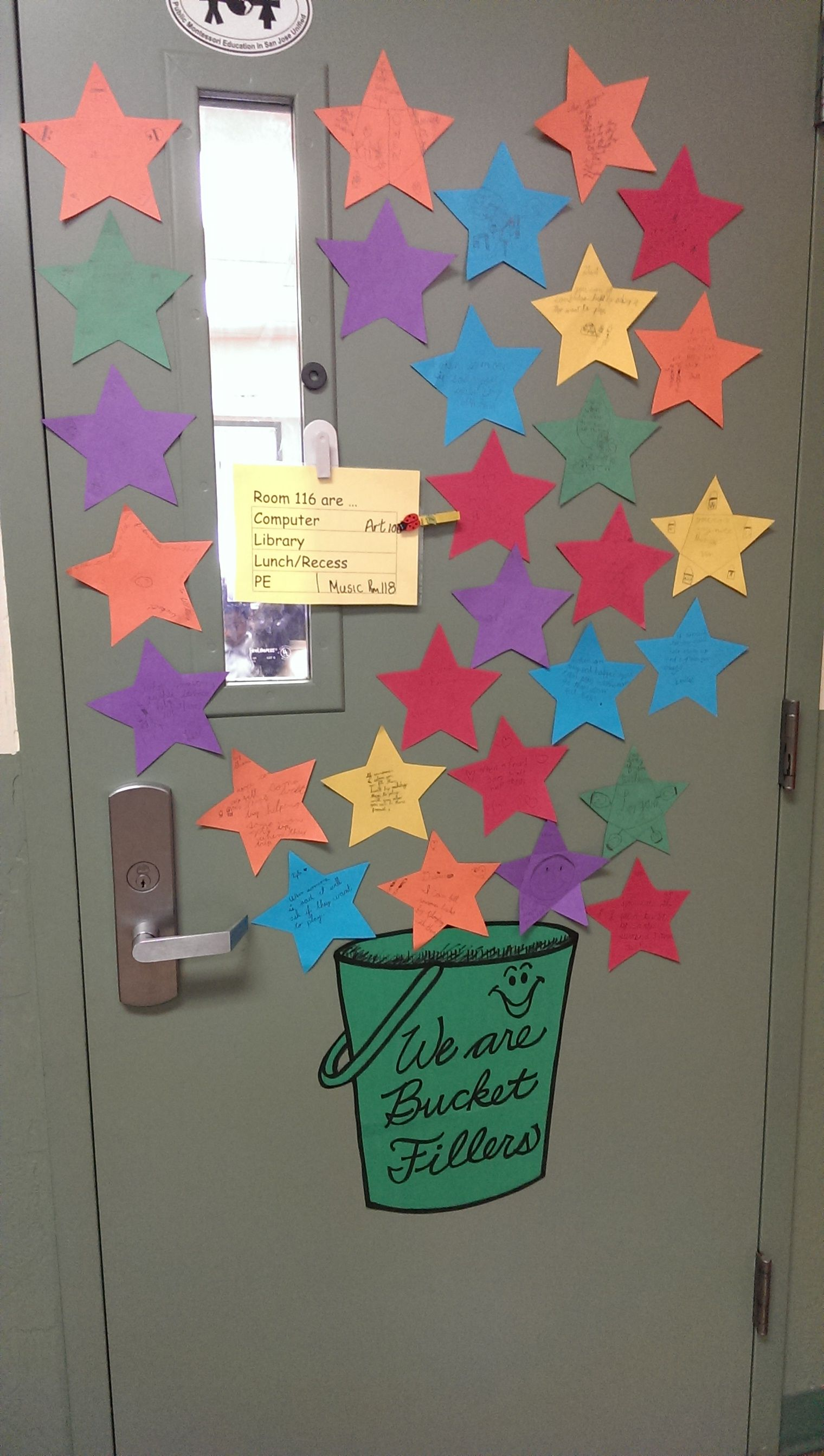 Easy Class Activity Have Students Write Down Their Best Bucket Filling Ideas On Blank Stars
