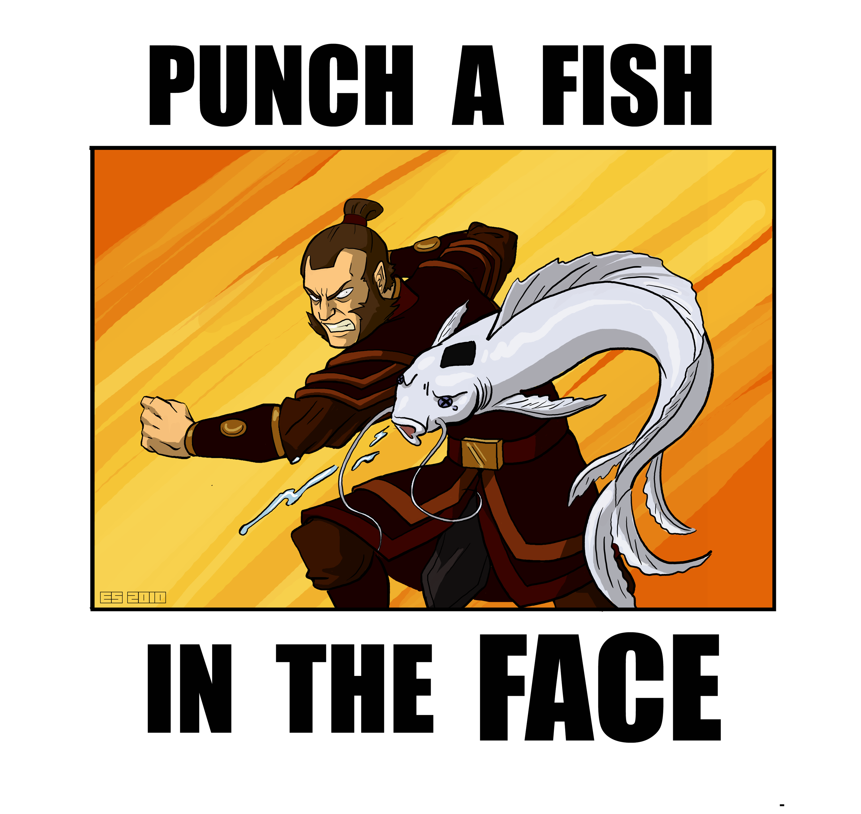 Punch A Fish In The Face Avatar Funny The Last Airbender Avatar