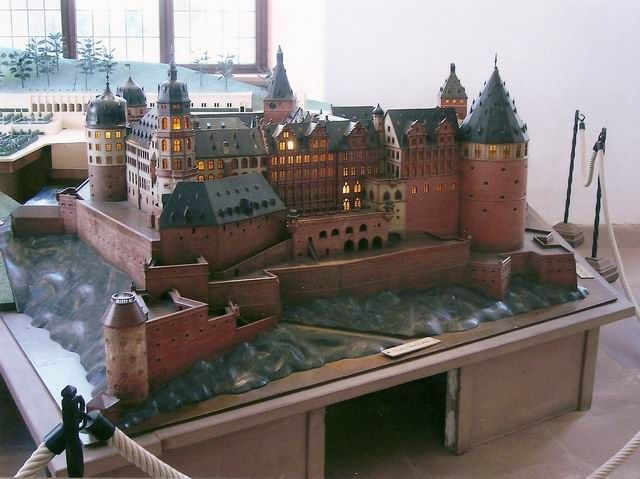 Modell Schloss Heidelberg Unzerstort Model Castle Heidelberg Undestroyed House Styles Heidelberg Mansions