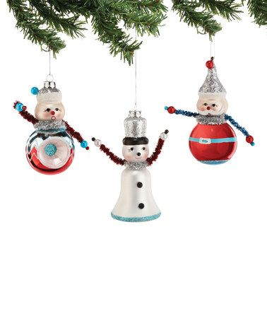 1956 Christmas Iconic Ornament Set Zulily Ornament Set Retro Christmas Ornaments