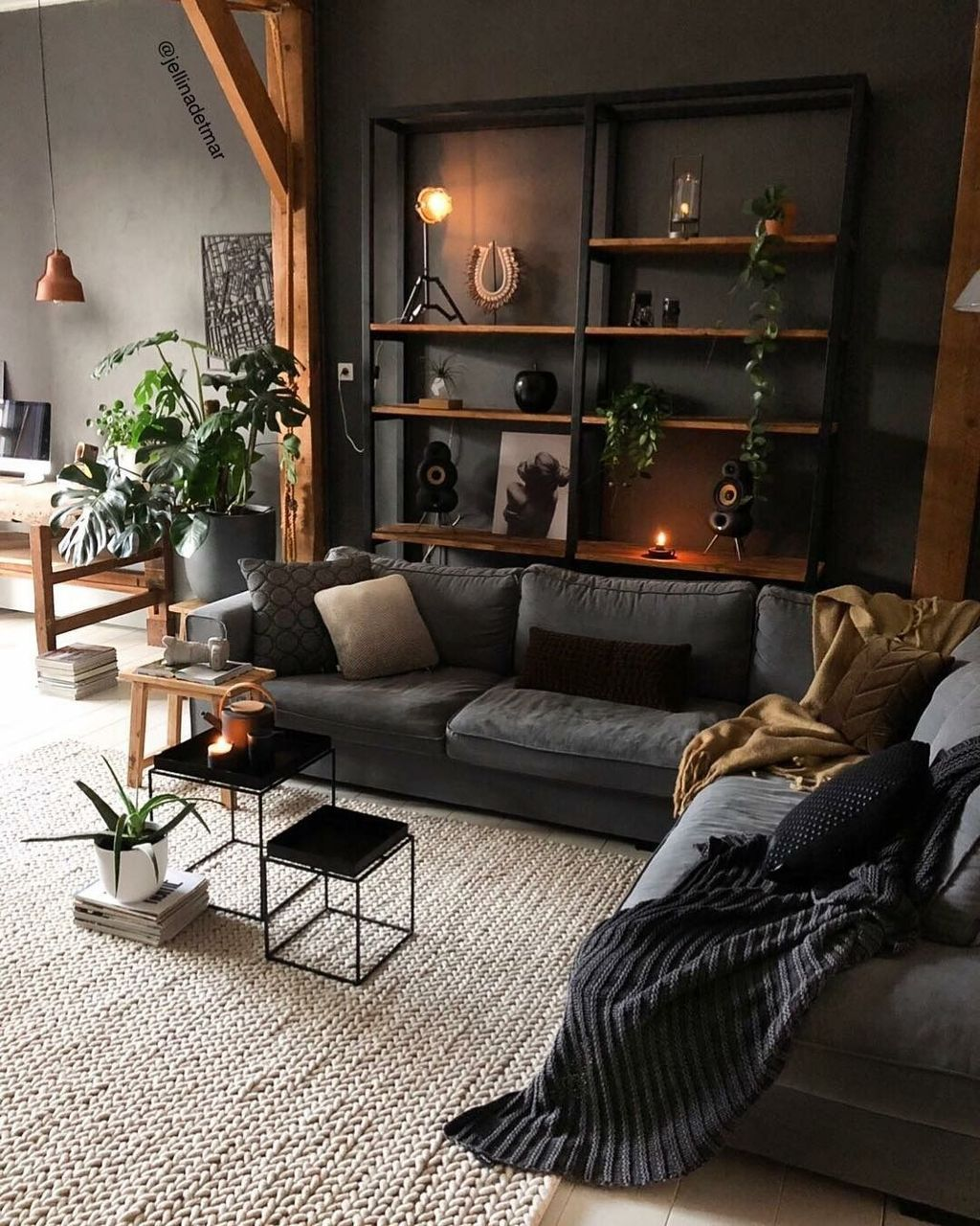 39 Modern Apartment Design Ideas With Industrial Style To Try Asap Dark Home Decor Interior Design Apartment Small Small Apartment Interior