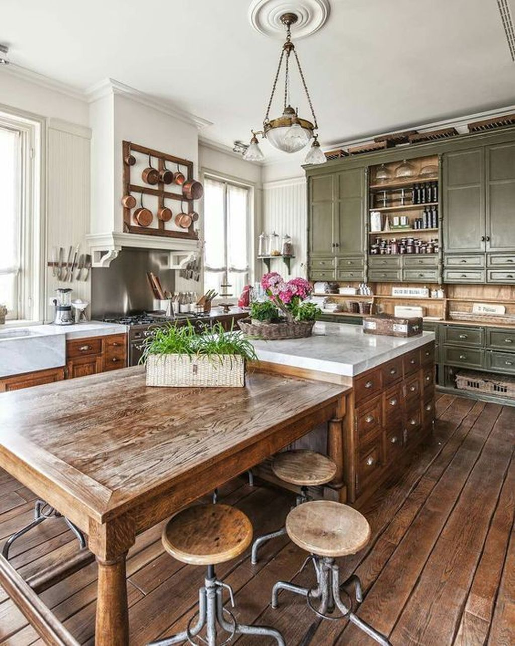 46 Inspiring Rustic Country Kitchen Ideas To Renew Your Ordinary Kitchen – Trendehouse