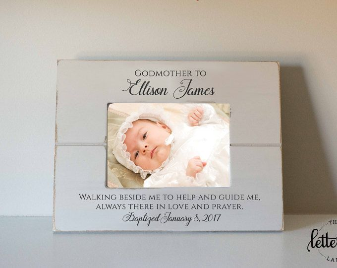 Godmother picture Frame, godfather frame, godparent gift, baptism ...