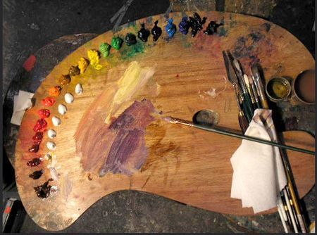 In The Studio The Perfect Studio Tabletop Palette Painters Palette Artist Palette Palette