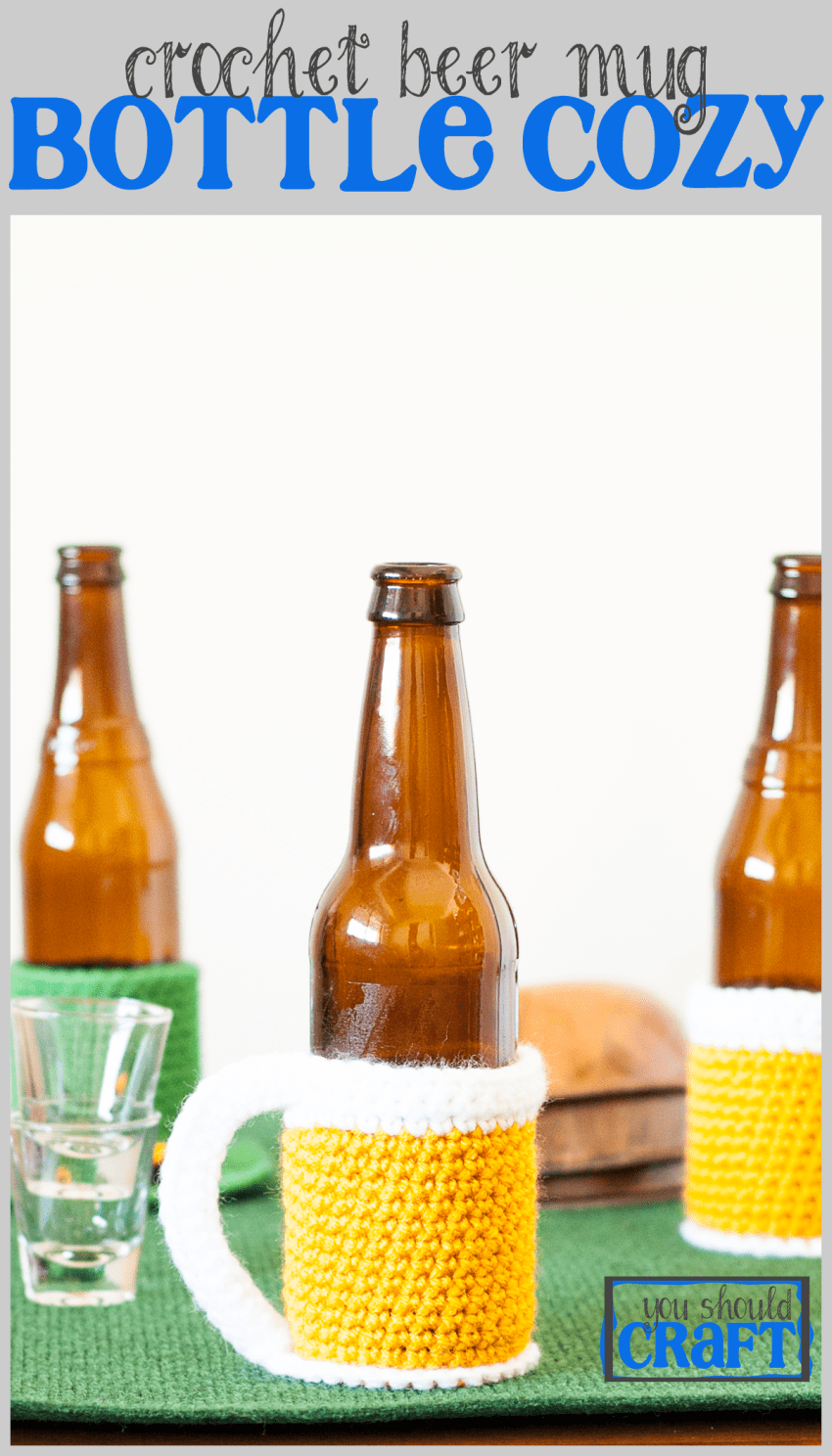 Beer Mug Bottle Cozy - Free Crochet Pattern | Tejido