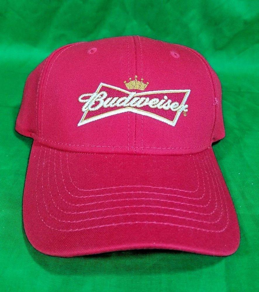 44980baeb4e Budweiser Beer Hat Red NWOT Snapback Cap  Budweiser  BaseballCap ...