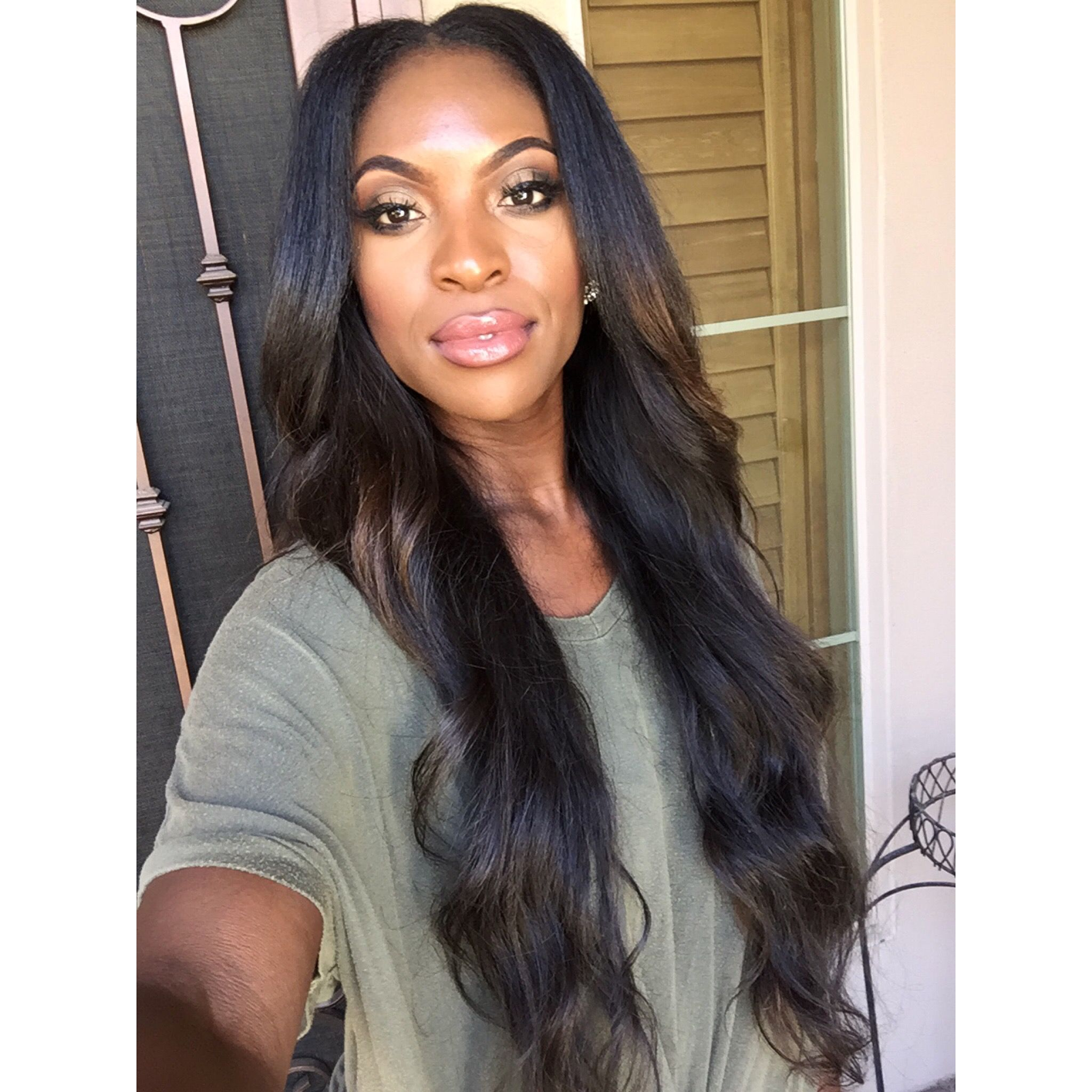 hairstyle for black women. #longextensions #balayage #ombre