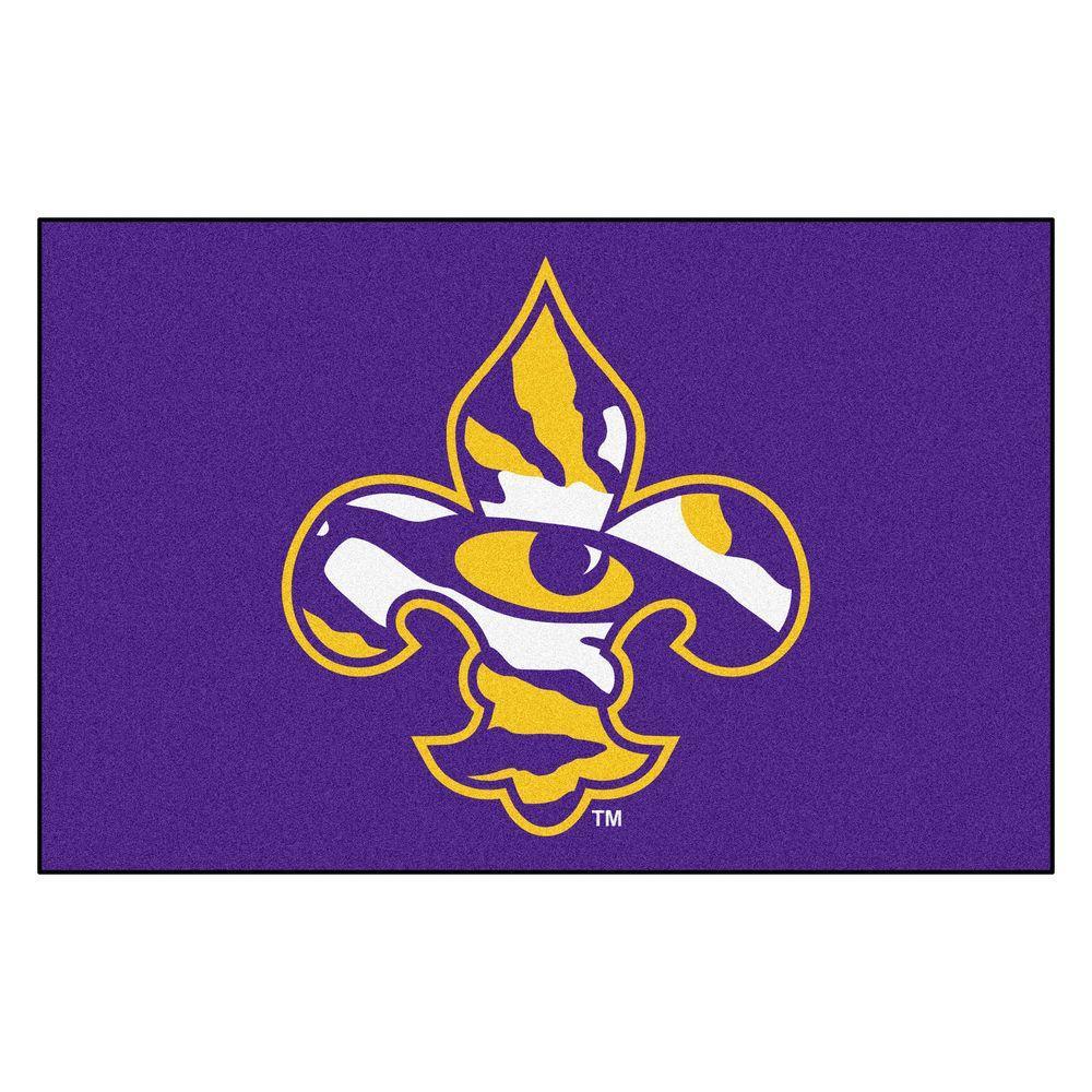 FANMATS NCAA Louisiana State University Purple 2 ft. x 3