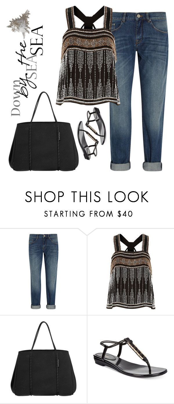 """Looking for shells"" by juliehalloran ❤ liked on Polyvore featuring dVb Victoria Beckham, River Island and Style & Co."