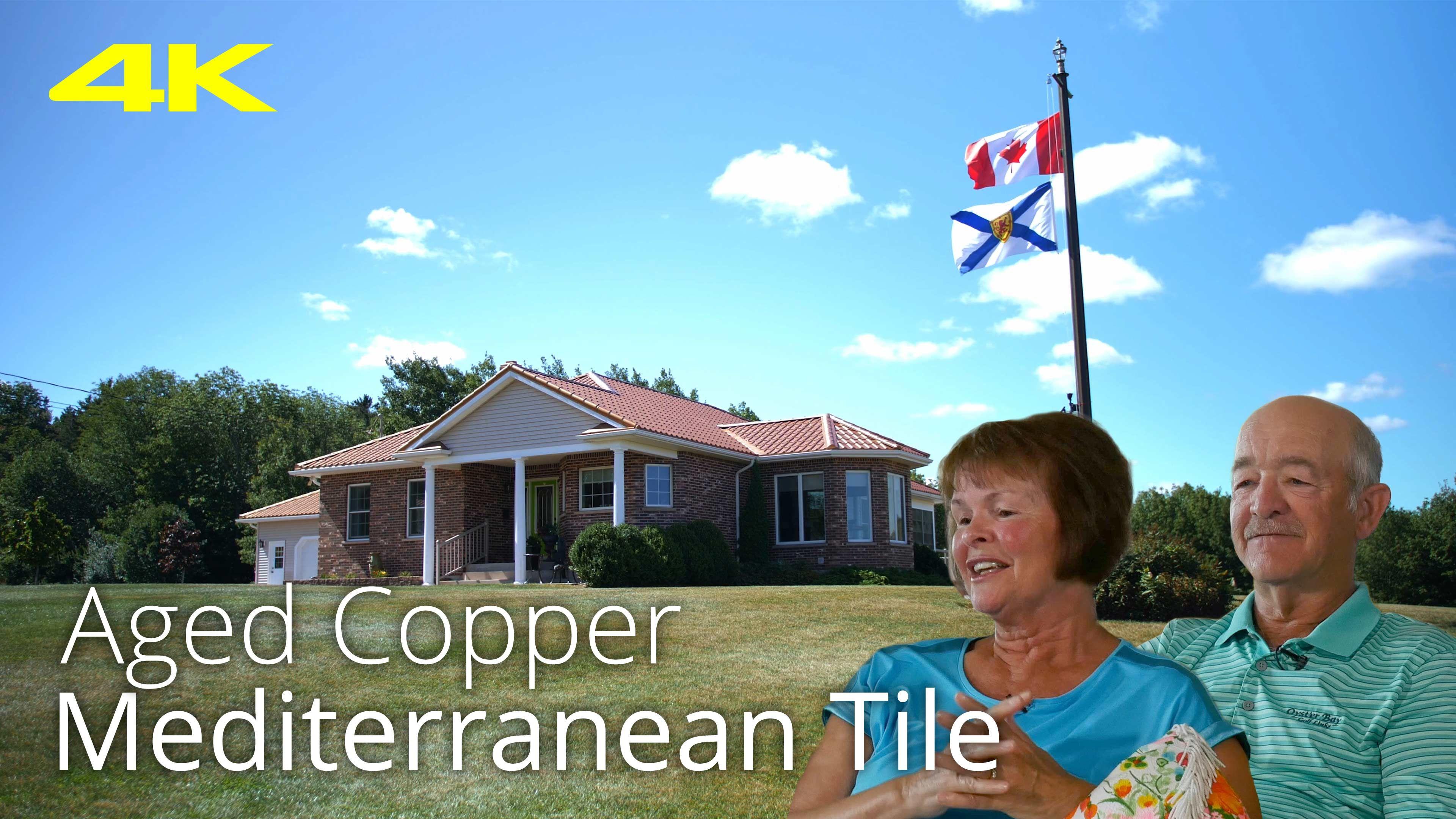 Aged Copper Mediterranean Tile Interlock Metal Roof Coldbrook Nova Scotia Canada Mediterranean Tile Nova Scotia Aged Copper