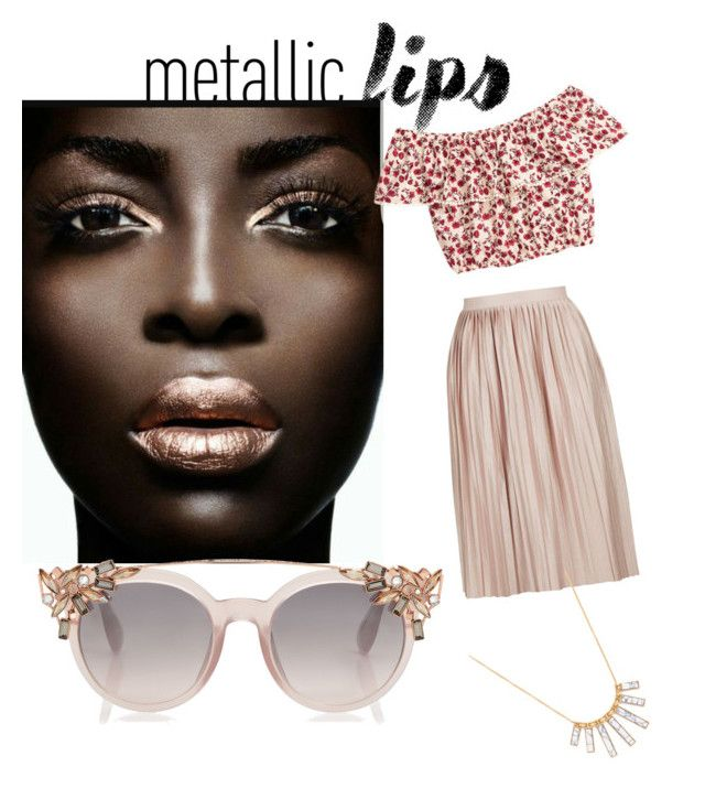"""""""Metallic"""" by hotval509 on Polyvore featuring Topshop, H&M and BaubleBar"""
